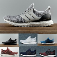 Hot selling Ultra Boost 3.0 4.0 Triple Black and White Primeknit Oreo CNY Blue grey Men Women Running Shoes Ultra Boosts ultraboost sport Sneakers