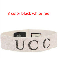 Wholesale Head Band Accessories - Letter logo Headband white Hair band towel hair with new hair accessories letter wide hoop wash head cover black White Red