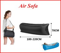 Wholesale New arrival Inflatable Air Sofa Lazy Bag Lounger Laybag Outdoor travelling Camping Portable Beach Bed Sleeping Bags out241