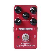 Wholesale guitar effect compressor - 2017 factory outlet new arrival Aural Dream Digital Compressor Comp Compressing True Bypass Design guitar effects