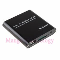 Wholesale Memory Movies - Wholesale- New HD Media Player 10PCS Full 1080P TV Mini for supporting movies from USB HDDs Flashdrives Memory Cards