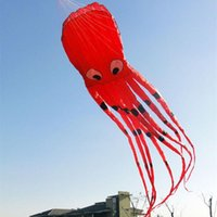 Compra Giocattoli Di Aquiloni-3D 26ft 8m Single Line Red Octopus Power Sport enorme morbido Kite Outdoor Toy