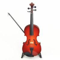 ücretsiz keman nakliye toptan satış-Ücretsiz Kargo Ahşap Mini Enstrüman Keman Dekorasyon Ahşap Mini Keman Oyuncak 14 cm