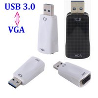 50pcs / lot * USB3.0 USB 3.0 to VGA Multi-display Graphic Converter Adapter 1920x1080 HD Win7 / 8 supporta multi display 1080p