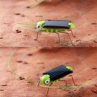 Wholesale Solar Powered Crickets - Wholesale- Solar Power Energy Crazy Grasshopper Cricket Kit Kids Toys