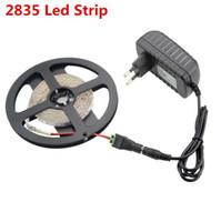 Wholesale Neon Stripe - 5M 2835 Led Strip Light 300Leds Flexible String Light Led Stripe Bar Neon Ampoule Led Lamp +DC12V 2A Power Supply