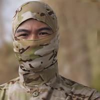 Wholesale Fast Hood - Camouflage Balaclava Full Face mask gear hunting dry fast hood Millitary Tactical Camo Hunting mask Fishing Cycling Headgear Bandana Scarf