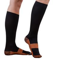 Wholesale Wholesale Calf High Socks - Wholesale- Unisex Compression High Socks Anti-Fatigue Calf Support Comfy Relief Leg Socks