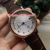 Wholesale Hand Watch Machine - High quality brand automatic machine men's calendar watch stainless steel gold carving pattern case original watch buckle