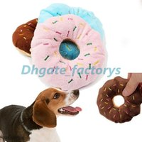 3 cores Donut Play Brinquedos Dog Cat Squeaker Quack Sound Toy Hot Sale Puppy Pet Chew Toys