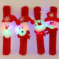 Cute Christmas Decoration Luminous LED Light Bracelets Bangles Hand Band Party Props Supplies Clap Circle Presentes para crianças 4 Designs YFA39