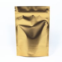 Food square nut - 50Pcs Retail Golden cm Heat Seal Stand Up Aluminum Foil Packing Pouch For Nuts Coffee Storage Doypack Ziplock Pack Bag