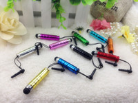Barato Canetas Para Mini Ipad-Mini Stylus Touch Screen Pen Com Anti-Dust Plug Para Ipad Iphone para Capacitive Screen