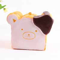 Hot Sales Lovely Bear Bread Forma Montessori Educación contra la Humanidad Bad Mood Anti Autismo y TDAH Tiempo Killer Juguetes para bebés Llavero