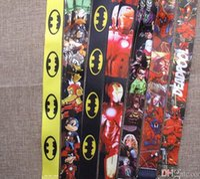 Wholesale New Mobil - mixing Free Shipping New Cartoon Deadpool Batman Lanyard Man Women ID Holder Mobil Phone Neck Strap Keychain Wholesale