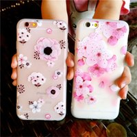 Wholesale Iphone Floral Cases - Fashion Flower Patterned Defender Case Soft Silicone Floral Protect Shockproof Cases Cover For iPhone X 8 7 6 6s Plus Phone Case