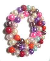 Wholesale Mixed Glass Pearl Beads 8mm - 5pcs lot Mix colors Loose Glass Pearl Round Beads For DIY Craft Fashion Jewelry Gift Free Shipping 8mm MP05