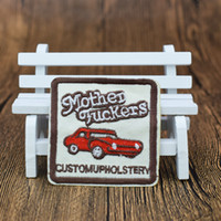 Wholesale Embroidered Car Badges - 10 pcs car badge patches for clothing iron embroidered style patch applique iron sew on patches sewing accessories for clothes