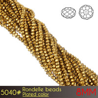 Wholesale Reflective Circle Glasses - Promotional DIY Making Crystal Glass Chandelier High Reflective Brilliant Rondelle Beads 8mm Platedcolors A5040 72pcs set