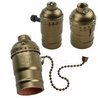 Wholesale vintage lamp sockets resale online - Aluminum E26 E27 Lamp Accessories Socket Holder Vintage Antique Edison Bulb