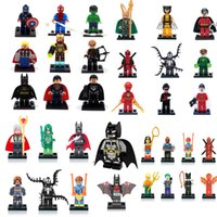 Wholesale Mini Super Heroes - Building Blocks Super Hero Toys The Avengers Toys Hulk Hobbies Toys Mini Action Figures Bricks Christmas gifts for kids
