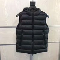 Wholesale Men Parkas - M331 French anorak men winter vest gillets UK popular gilets Jacket Body Warmer Warm Plus Size Man Down and parka anorak vest