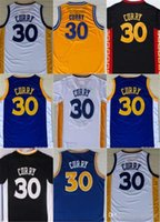 # 30 Stephen Curry Warrior Golden State Embroideried Throwback Basket Indossa Maglia A Casa Cucita Stitched Pullover di Trasporto libero