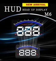 CE speed image - M6 Inch Car HUD Head Up Display OBD2 Plug Play KM h MPH Speeding HD Image