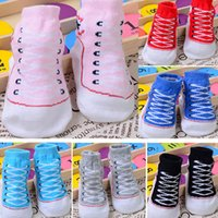 Wholesale Toddler Boys Tube Socks - Baby Boys Girls Infant Toddler Soft Sole Crib Shoes Newborn Shoes Summer Spring Autumn Mid Tube Stocking Socks Cute 0-12M WX-S13
