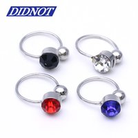 Wholesale Cheap Wholesale Piercing Jewelry - 7pcs Mix Colors Ear Clip Cuff Wrap Earrings Crystal Rhinestone Nose No piercing Clip on Women Men Party Jewelry Cheap