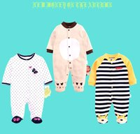 Wholesale Christmas Soccer Socks - 4styles Baby Romper With Socks Pure Cotton Soccer Sports Infant Children Clothes Long sleeves Rompers Jumpsuit kids