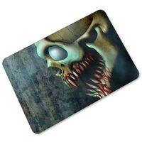 Wholesale Persian Style - Vintage 3D Blood Skull Floor Mats Skeleton Zombie Welcome Door Mats Kitchen Bathroom Hallway Area Carpet Doormats 45x70cm