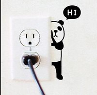 Panda Switch Sticker Wall Quote Stickers muraux Autocollants en vinyle Home Mural