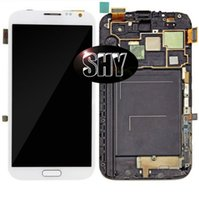 Wholesale Galaxy Note Digitizer I317 - 100% original LCD Display Touch Screen Digitizer Assembly with Frame For Samsung Galaxy Note2 N7105 N7100 i317 t889