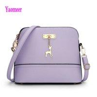 Wholesale Handbag Brand Pink - Wholesale- 2016 Famous Design Brand Women Shell Bags Hot Sale Purple Blue Handbag Luxury Mini Pu Crossbody Shoulder Bag Zipper Clutch a29