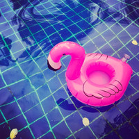 Wholesale Cell Phone Float - Hotest Mini Pink Flamingo Inflatable Drink Holders Floating Toy Pool Party Bath Cell Phone Holder Pool Event Party Supplies Swimmming