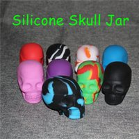 Wholesale goo containers resale online - Ego Silicone Skull Jar Container for Oil Dab Wax BHO Jar Crumble Goo Honey Stainless Steel Wax Oil Dabber Tool