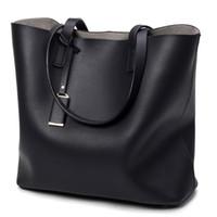 Wholesale Leather Handbags Usa - 2017 USA EU Fashion Women Handbag PU Oil Wax Leather Women Bag Large Capacity Tote Bag Big Ladies Shoulder Bags