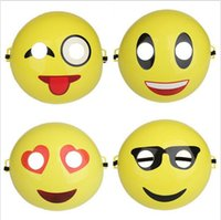 Wholesale Smile Face Mask - Cartoon Emoji Mask Face Smile Funny Mask Expressions Masks For Kids Costume Dress Halloween Party Supplies OOA1982