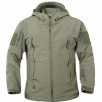 Wholesale Military Rip Stop - Army Military Tactical Jacket Men Soft Shell Waterproof Windproof Man Jacket Coat Hunter Camouflage Hoody Jacket