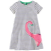 cartoon robe - Girls Cotton Dress Animal Brand Summer Princess Dress Cartoon Robe Fille Tunic Baby Clothing for Kids Dresses