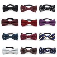 gravata para miúdos venda por atacado-Crianças Crianças Pré Amarrado banquete de casamento Bow Tie Meninas Meninos Formal Tuxedo Satin Bowtie gravata colorida gota presente do bebê do Natal