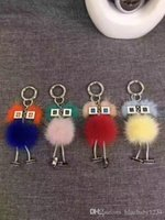 New Chicks Robot Real Mink Fur Witch Shape Donna Borsa Bug Monster Bag Charm Pompon Keychain di lusso autentico