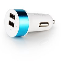 Chargeur allume-cigare universel double USB 5V 2.1A 1A Adaptateur allume-cigare Détecteur automatique pour Ipad Mini Air 2 3 Iphone 5 6 Plus Samsung