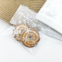 Wholesale Cellophane Bags For Cookies - Wholesale- 100pcs lot 10*10.5 cm clear cellophane bags poly bag cookies bags wedding cake bags bonbons for bakery packaging