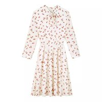 Wholesale Most Sold Dresses - 2017 Spring Summer Hot Selling Medium Ladies fashion Elegant Flora Printed Chiffon Dress Short Sleeve Most Girls Are Like It