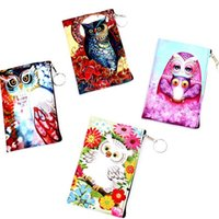 Wholesale Pu Leather Owl Purses - Owl Purses Baby Girl Designer 22 Colors Kid Cartoon Women Change Organizer Elephant Print PU Leather Purse