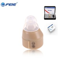 Wholesale Ear Hearing Aid Amplifier - FEIE Factory Mini Hearing Instrument in the ear Invisible Analog Hearing Aid Amplifier For Deaf Hearing S-85 Drop Shipping