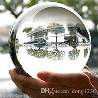 Wholesale font lights - 100mm+Stand Asian Rare Natural Quartz Clear Magic Crystal Healing Ball Sphere