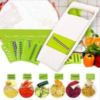 Wholesale Plastic Accessories For Kitchen - Mandoline Slicer Manual Vegetable Cutter with 5 Blades Potato Carrot Grater for Vegetable Onion Slicer Kitchen Accessories OOA2026